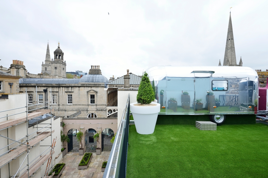 roof garden with city centre view